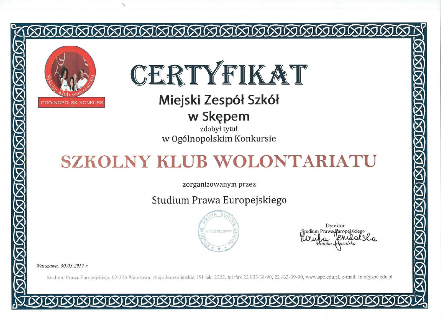 Certyfikat W
